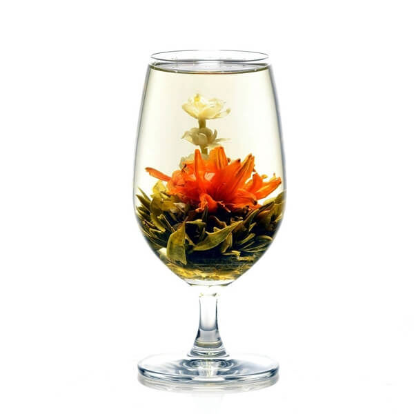 Wemys theebloemen golden dragon glas