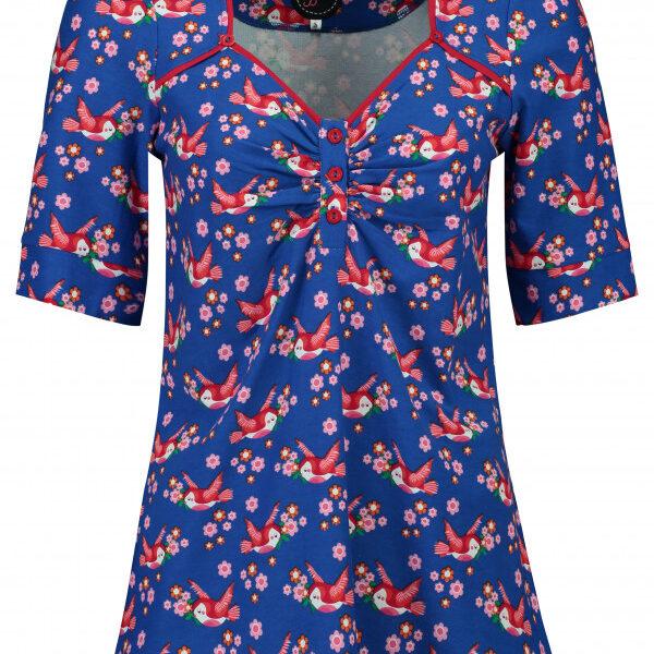 tante betsy-top_lena_lo_birds_blos_blue_www.wemys.nl