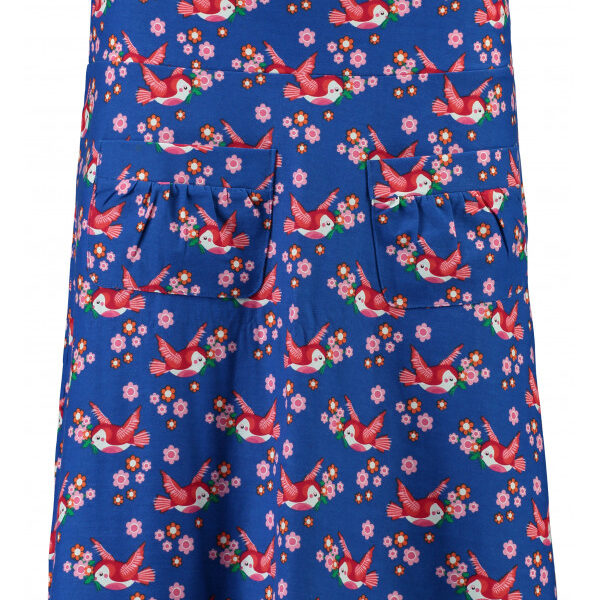 tante betsy-wemys-skirt_flow_birds_blos_blue-